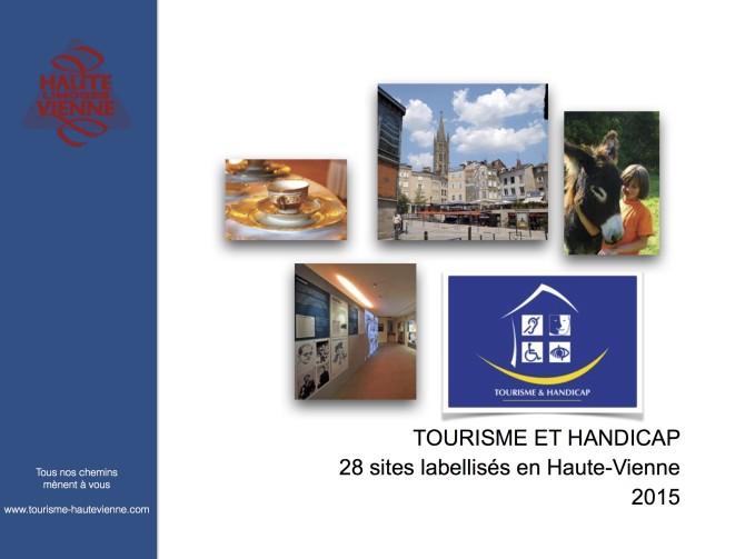 Haute-Vienne brochure Tourisme et Handicap 2015