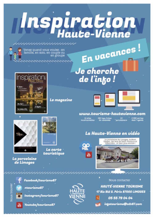 Carte Touristique Haute Vienne.Brochures 2017 Espace Pro Presse Haute Vienne