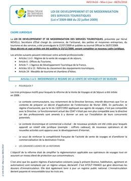INFO RN2D - LOI TOURISME V4 08012010