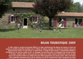 Haute-Vienne Tourisme : bilan touristique année 2009