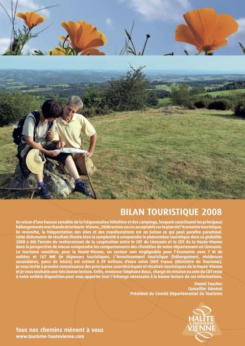 bilan touristique pour l'année 2008