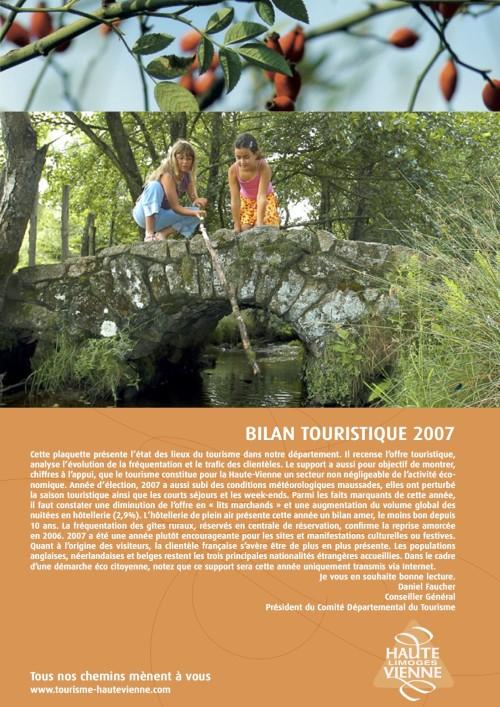 bilan touristique pour l'année 2007