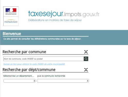 taxe de séjour http://taxesejour.impots.gouv.fr/