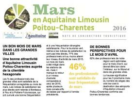 Note de conjoncture tourisme région ALPC Avril 2016