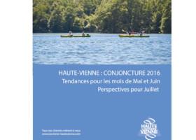 La conjoncture sur l'activité touristique en Haute-Vienne en mai et juin 2016