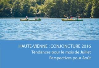 La conjoncture sur l'activité touristique en Haute-Vienne en juillet 2016