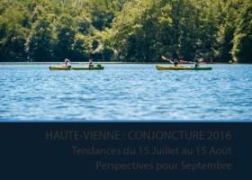 LA CONJONCTURE SUR L'ACTIVITÉ TOURISTIQUE EN HAUTE-VIENNE EN HAUTE SAISON 2016