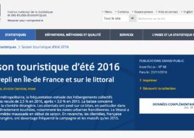 Evolution des nuitées touristiques 2015/2016 par département