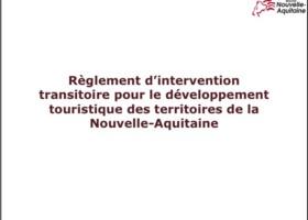 Règlement d'intervention touristique de la Nouvelle-Aquitaine