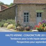 Conjoncture touristique estivale 2017 plutôt positive en Haute-Vienne