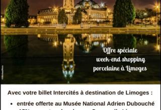 Intercités & Haute-Vienne Tourisme : une nouvelle offre shopping porcelaine à Limoges  !