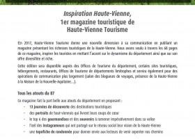 Inspiration Haute-Vienne, 1er magazine touristique de Haute-Vienne Tourisme