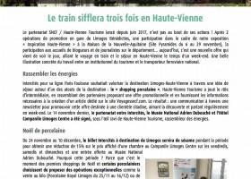 Le train sifflera trois fois en Haute-Vienne