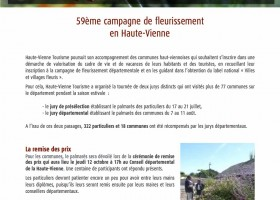 59ème campagne de fleurissement en Haute-Vienne