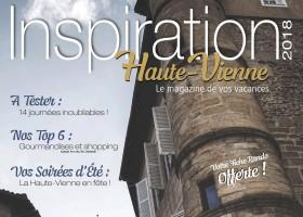 Inspiration Haute-Vienne 2018, le magazine de vos vacances est arrivé  !