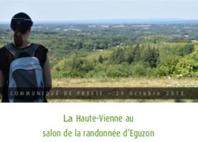 La Haute-Vienne au salon de la randonnée d'Eguzon