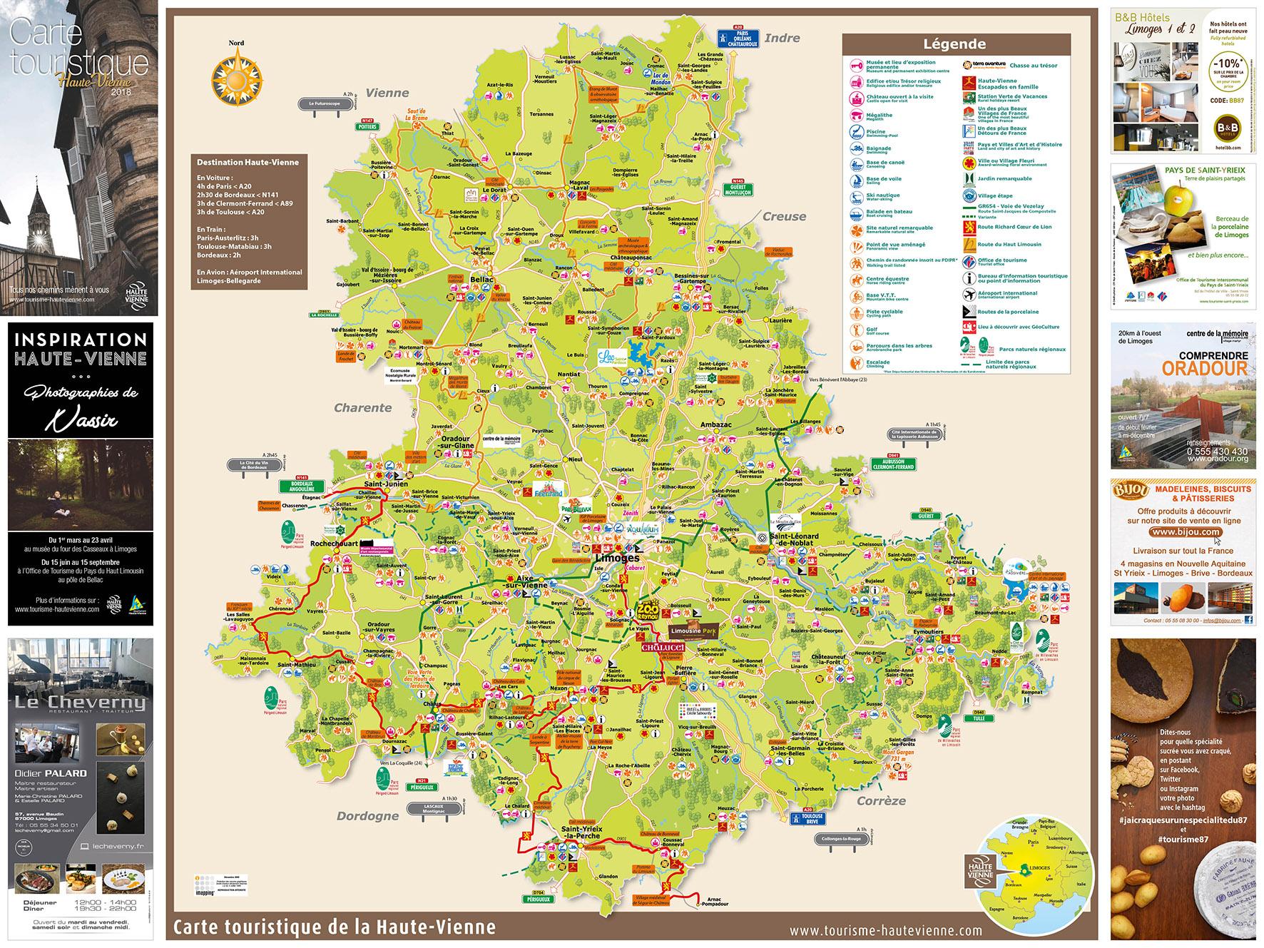 Carte Touristique Haute Vienne.Carte Hte Vienne 2018recto Petite Espace Pro Presse