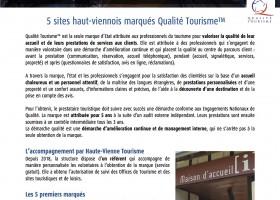 Communiqué de presse : La marque Qualité Tourisme