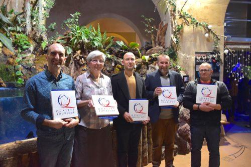 Présentation des 5 responsables de sites marqués Qualité Tourisme suite à l'accompagnement de Haute-Vienne Tourisme