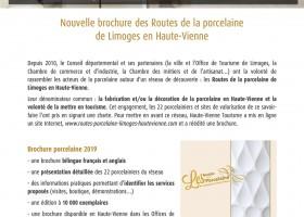 Communiqué de presse : brochure porcelaine 2019