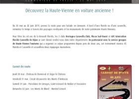 Communiqué de presse : Découvrez la Haute-Vienne en voiture ancienne
