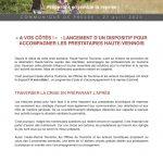 Communiqué de presse : un dispositif d'accompagnement pour les prestataires haute-viennois