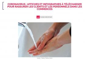 Coronavirus : affiches et infographies à télécharger pour rassurer les clients et le personnel
