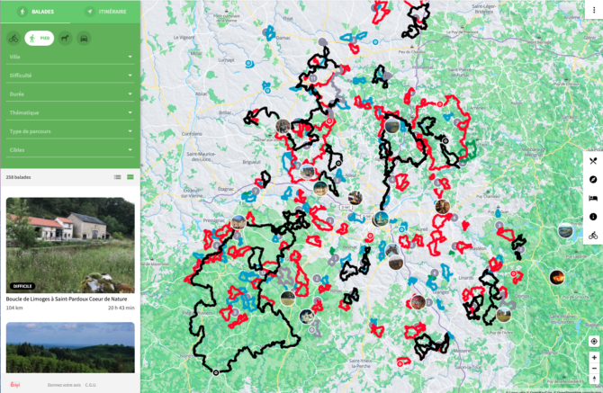Cartographie Loopi haute-vienne