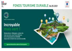 Fonds Tourisme Durable, point d'avancement septembre 2021